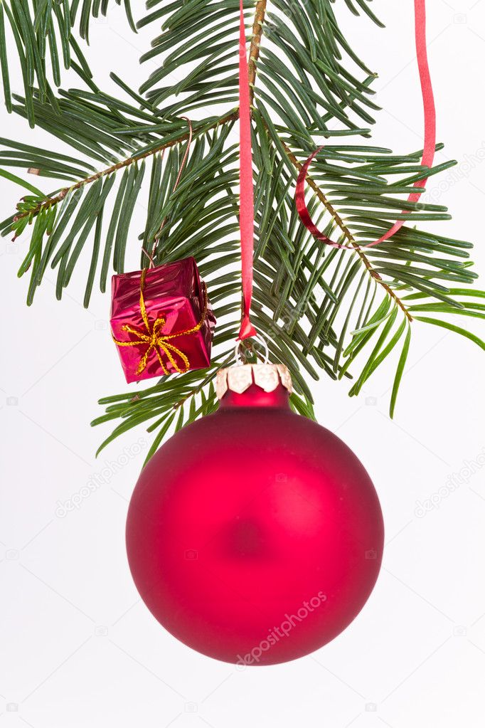 Christmas decoration on Christmas tree — Stock Photo #5298193