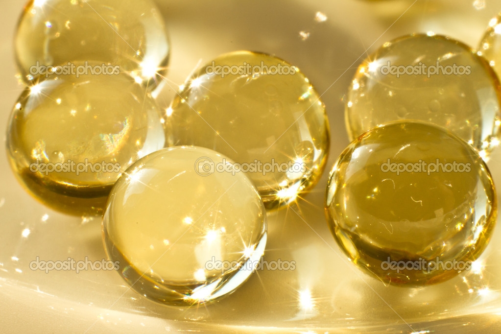 Close up of vitamin oil capsules  Stock Photo #5298376