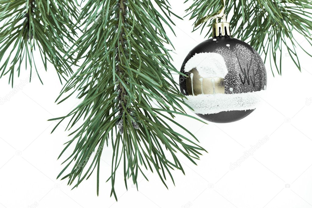 Christmas decoration on Christmas tree — Stock Photo #5298556