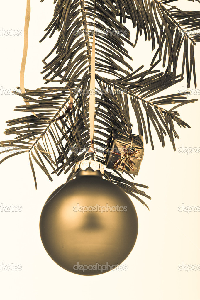 Christmas decoration on Christmas tree — Stock Photo #5298675