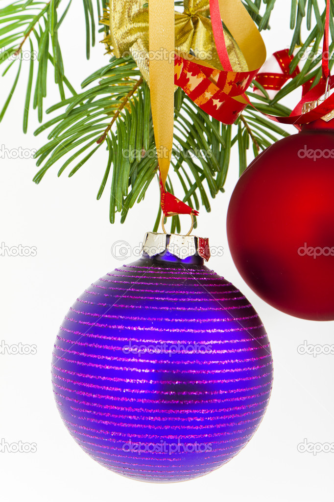 Christmas decoration on Christmas tree — Stock Photo #5298697