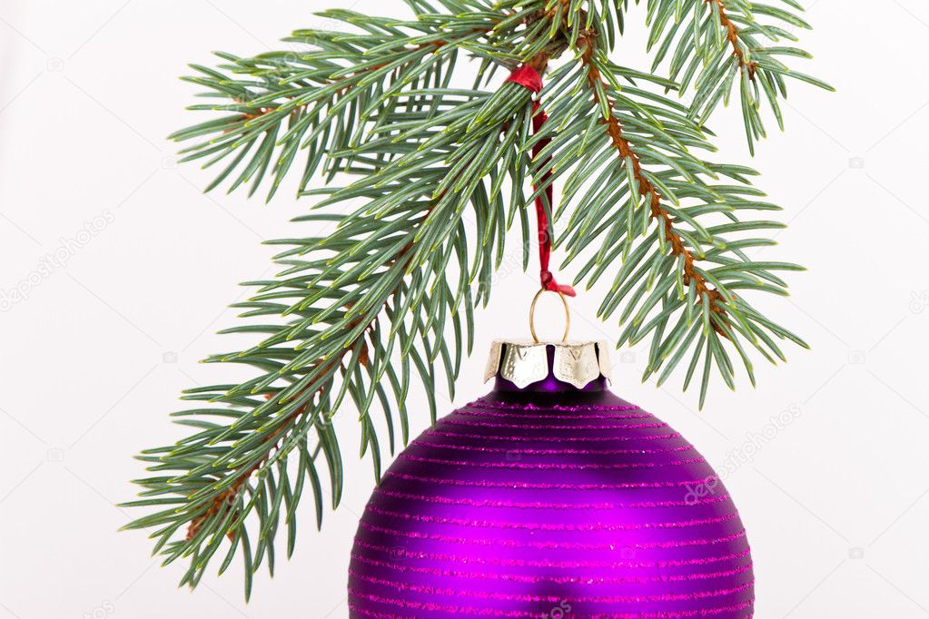 Christmas decoration on Christmas tree  Stock Photo #5298707