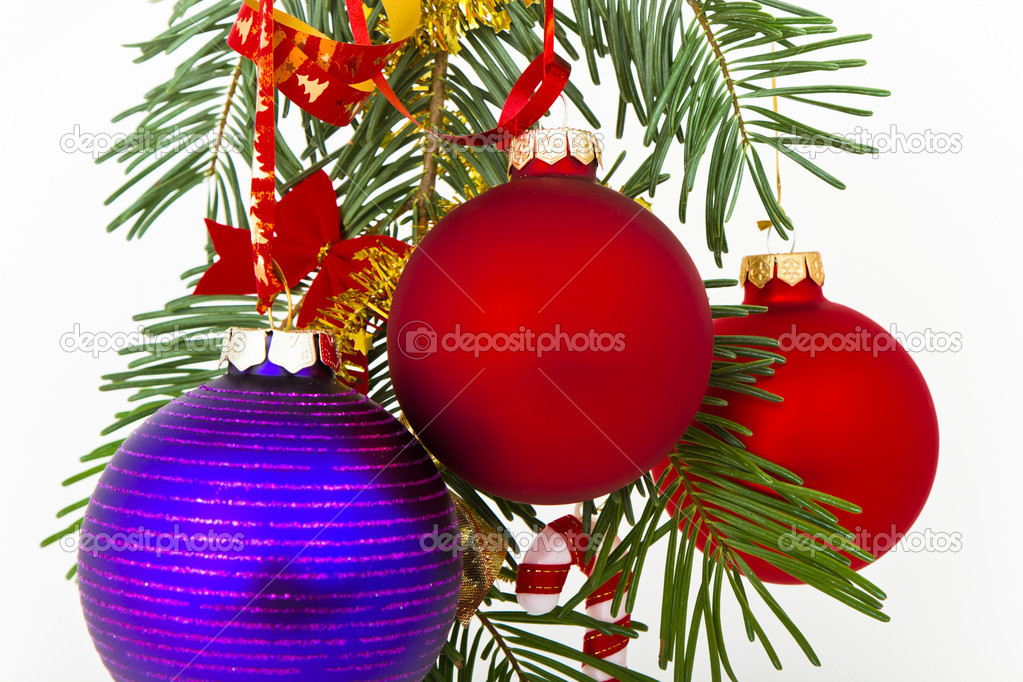Christmas decoration on Christmas tree — Stock Photo #5298739