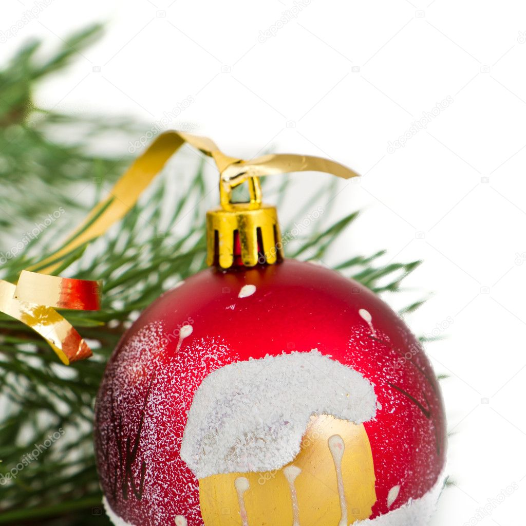 Christmas decoration on Christmas tree — Stock Photo #5298764
