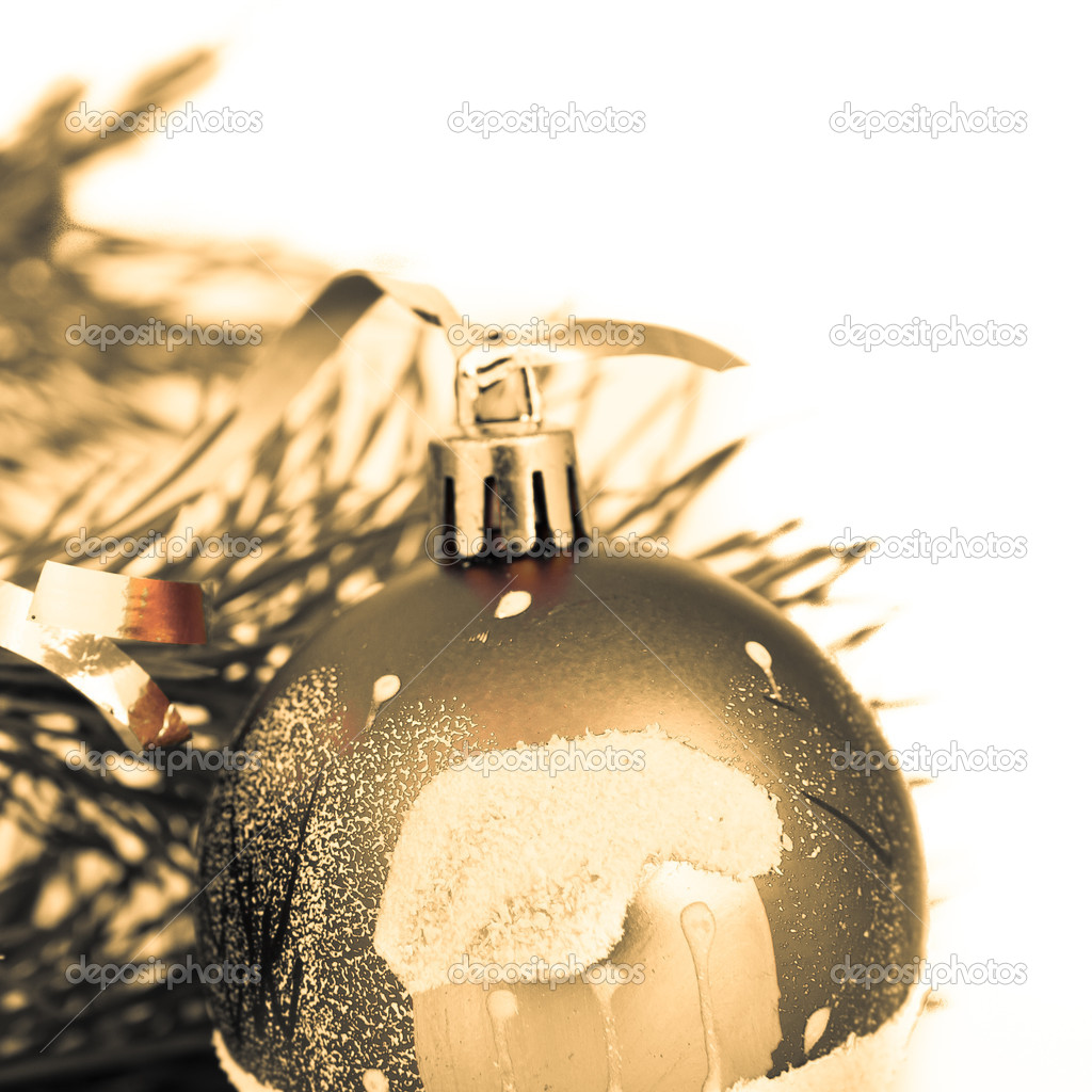 Christmas decoration on Christmas tree — Stock Photo #5298800