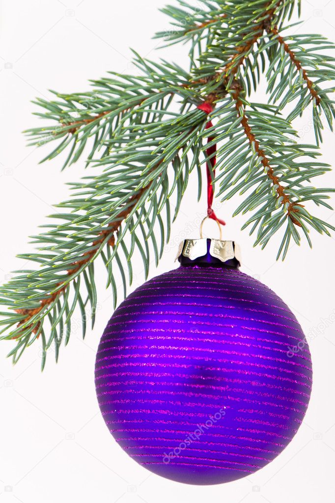 Christmas decoration on Christmas tree  Stock Photo #5298805