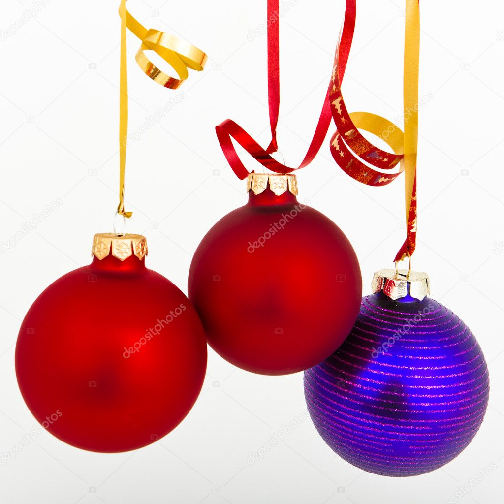 Hanging Christmas decoration on white background — Stock Photo #5298821