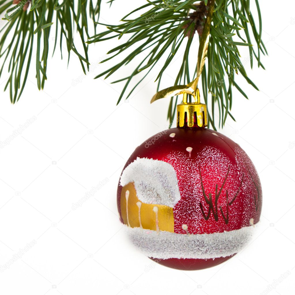 Christmas decoration on Christmas tree — Stock Photo #5298863