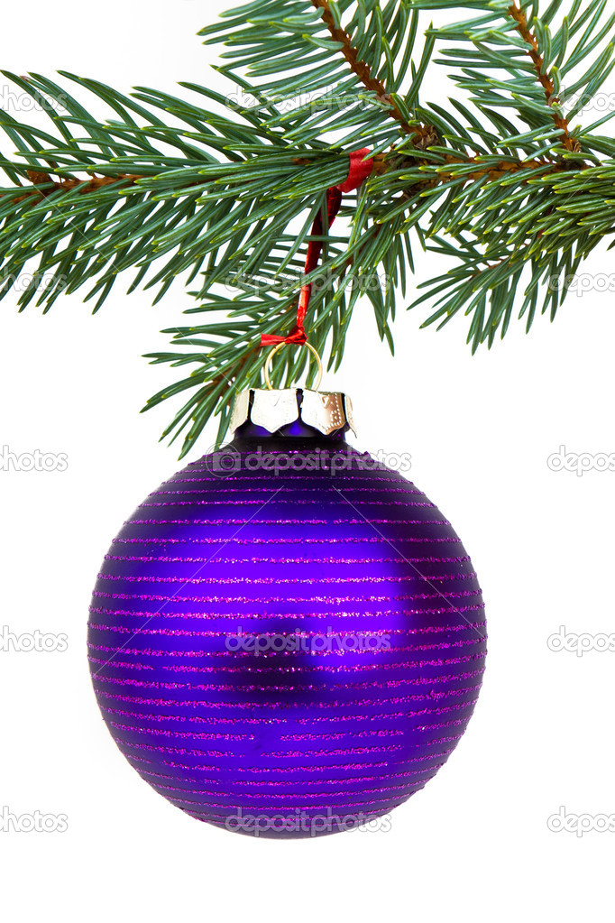 Christmas decoration on Christmas tree  Stock Photo #5298950