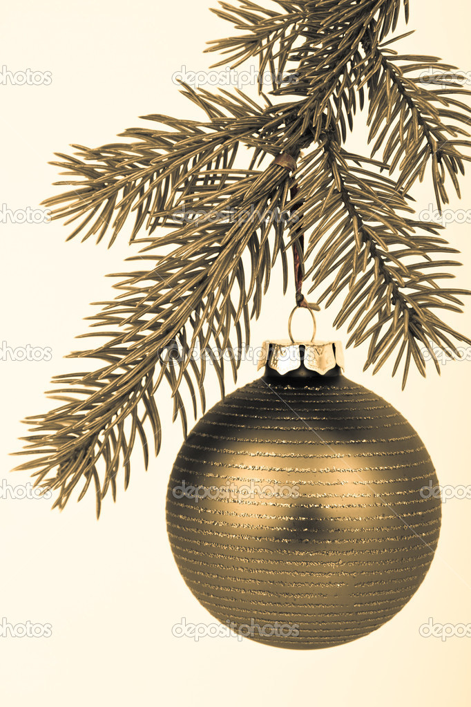 Christmas decoration on Christmas tree — Stock Photo #5298954