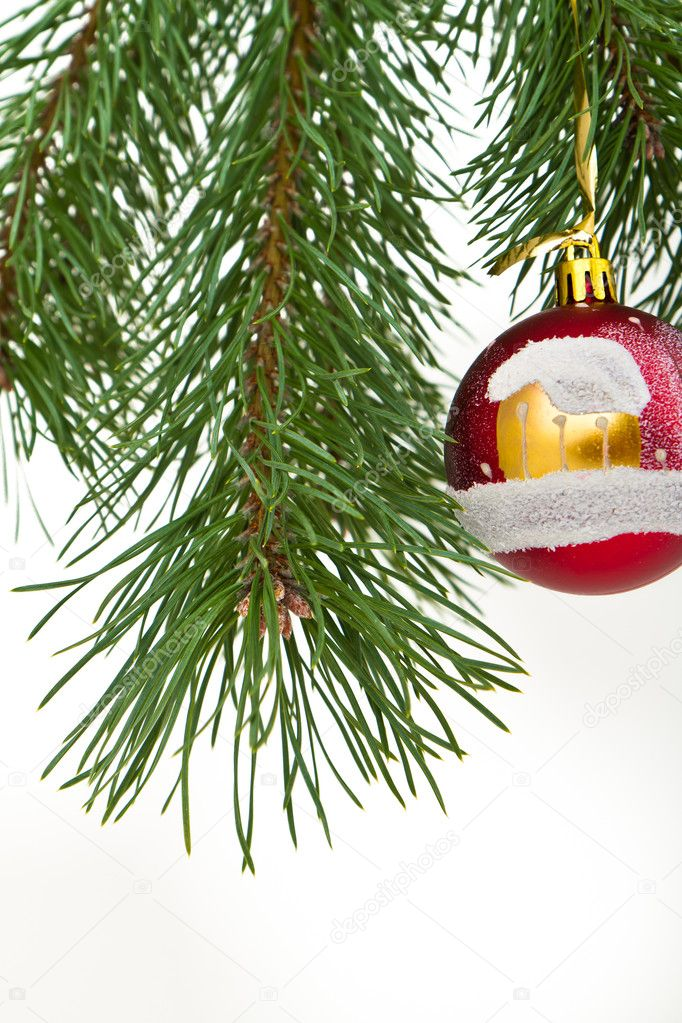 Christmas decoration on Christmas tree  Stock Photo #5298994
