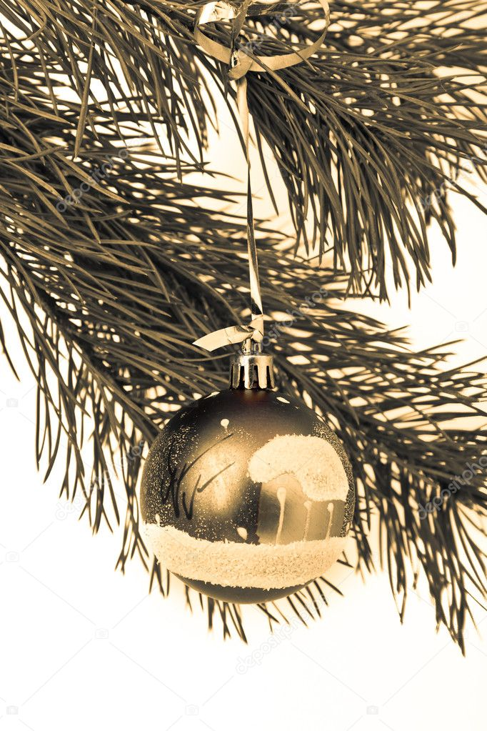 Christmas decoration on Christmas tree — Stock Photo #5299091