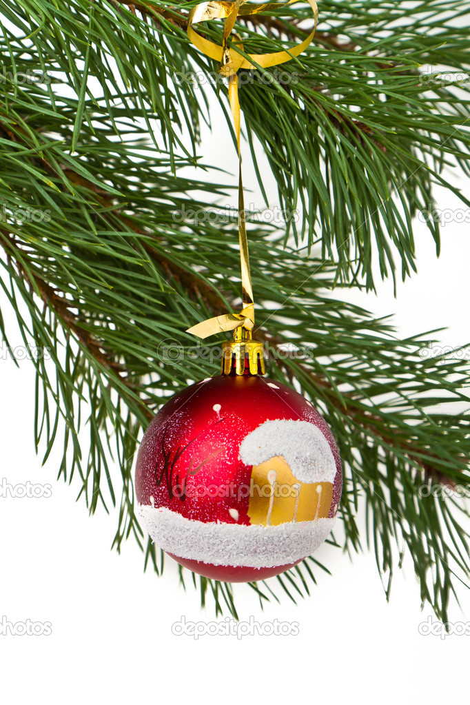 Christmas decoration on Christmas tree  Stock Photo #5299115