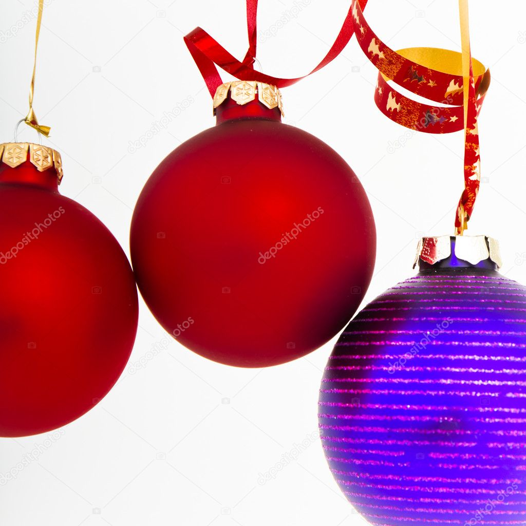 Hanging Christmas decoration on white background — Stock Photo #5299125