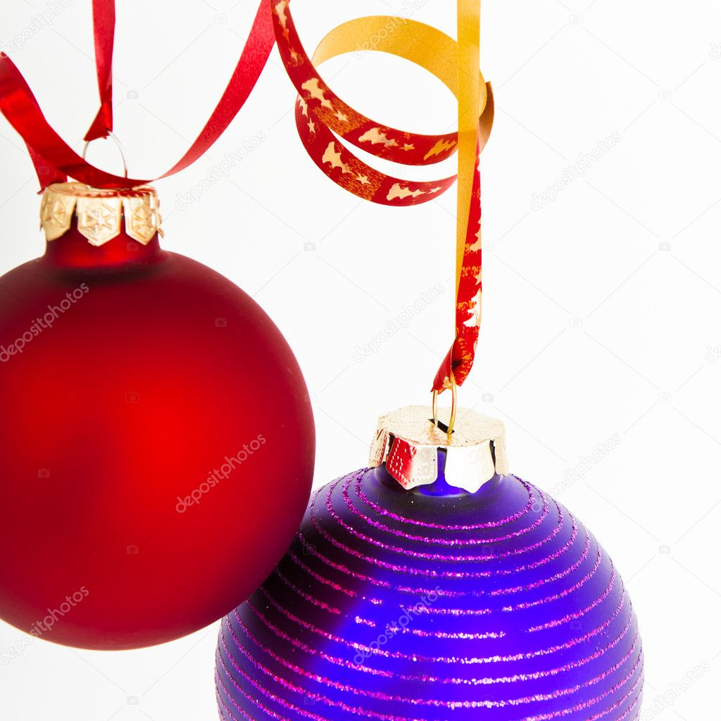 Hanging Christmas decoration on white background — Stock Photo #5299171
