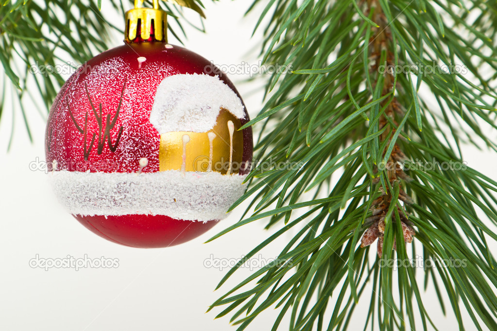 Christmas decoration on Christmas tree — Stock Photo #5299262