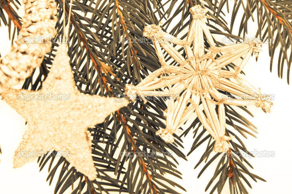 Decoration on Christmas tree isolated — Stock Photo #5299283