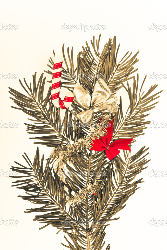 Christmas decoration on Christmas tree  Stock Photo #5299305
