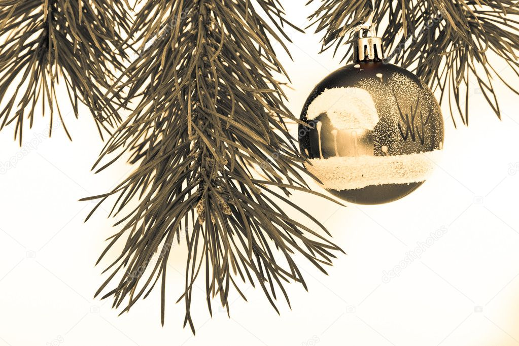 Christmas decoration on Christmas tree — Stock Photo #5299315