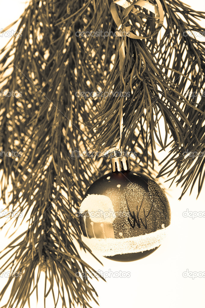 Christmas decoration on Christmas tree  Stock Photo #5299441