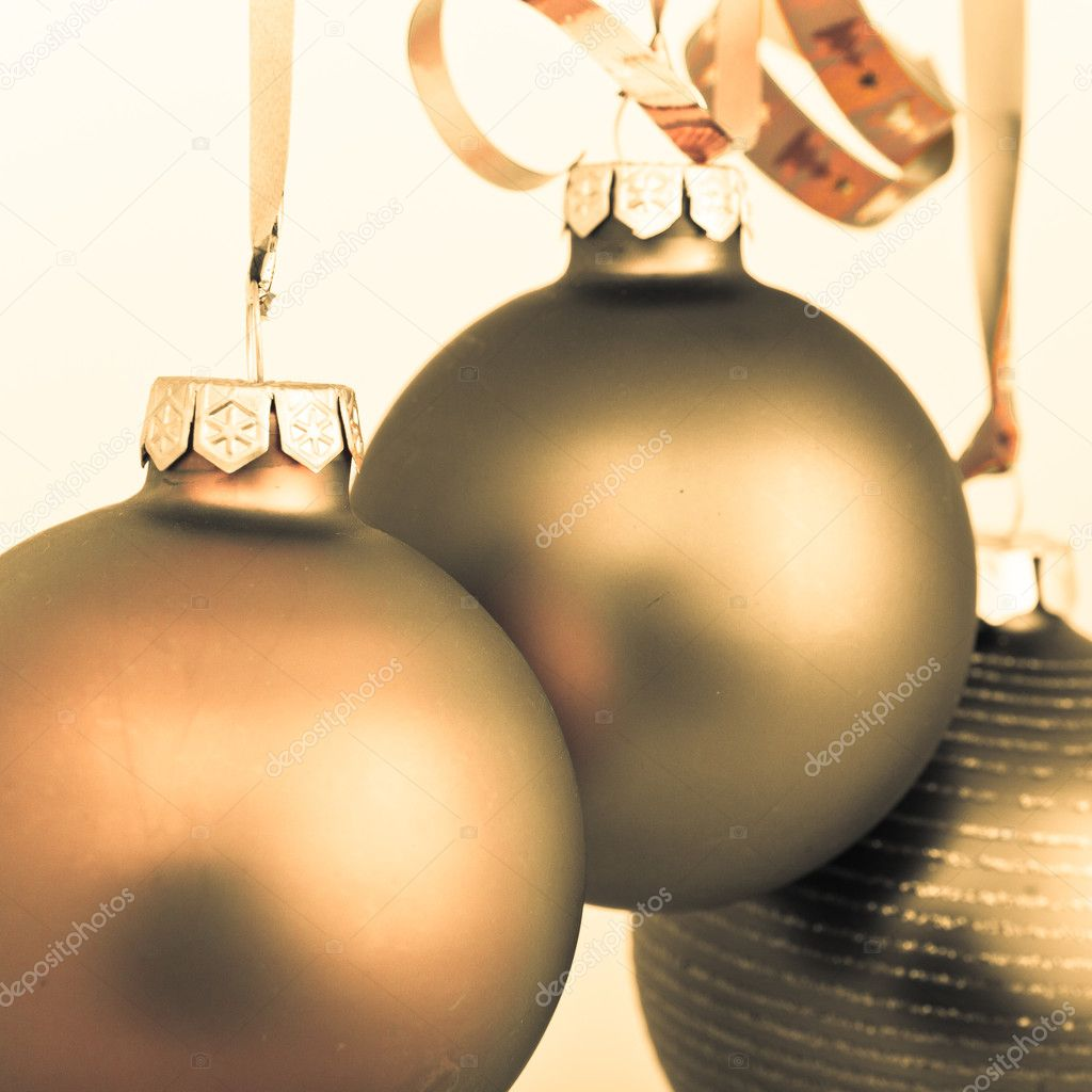 Hanging Christmas decoration on white background — Stock Photo #5299472
