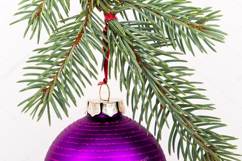 Christmas decoration on Christmas tree  Stock Photo #5299493