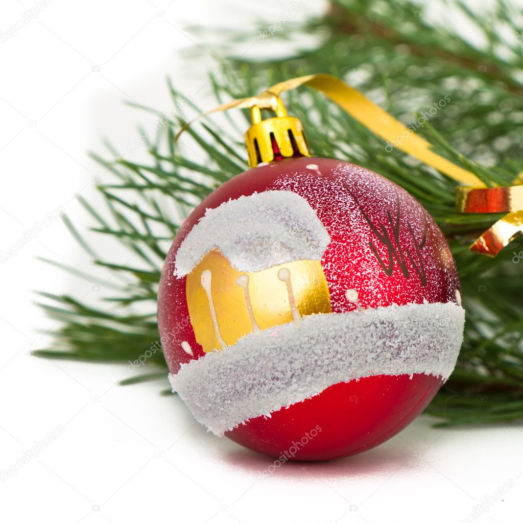 Christmas decoration on Christmas tree — Stock Photo #5299523