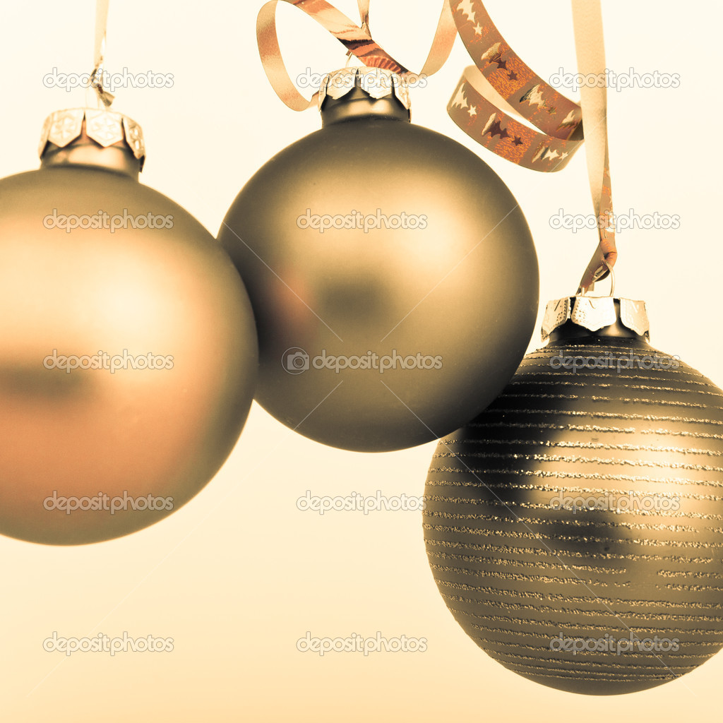 Hanging Christmas decoration on white background  Stock Photo #5299526
