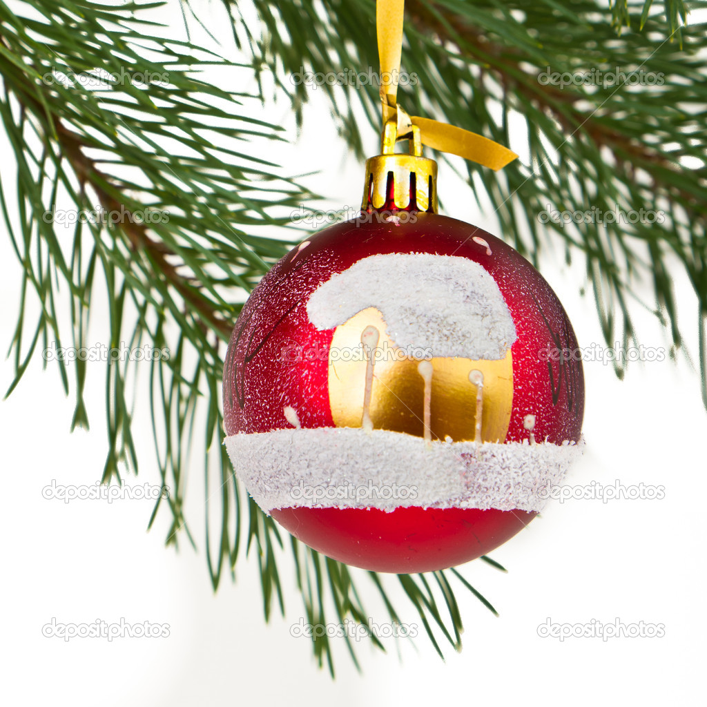 Christmas decoration on Christmas tree  Stock Photo #5299531