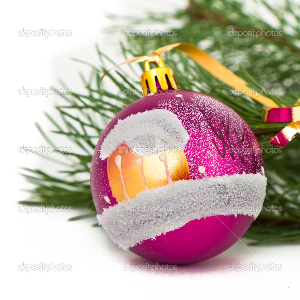 Christmas decoration on Christmas tree  Stock Photo #5299574