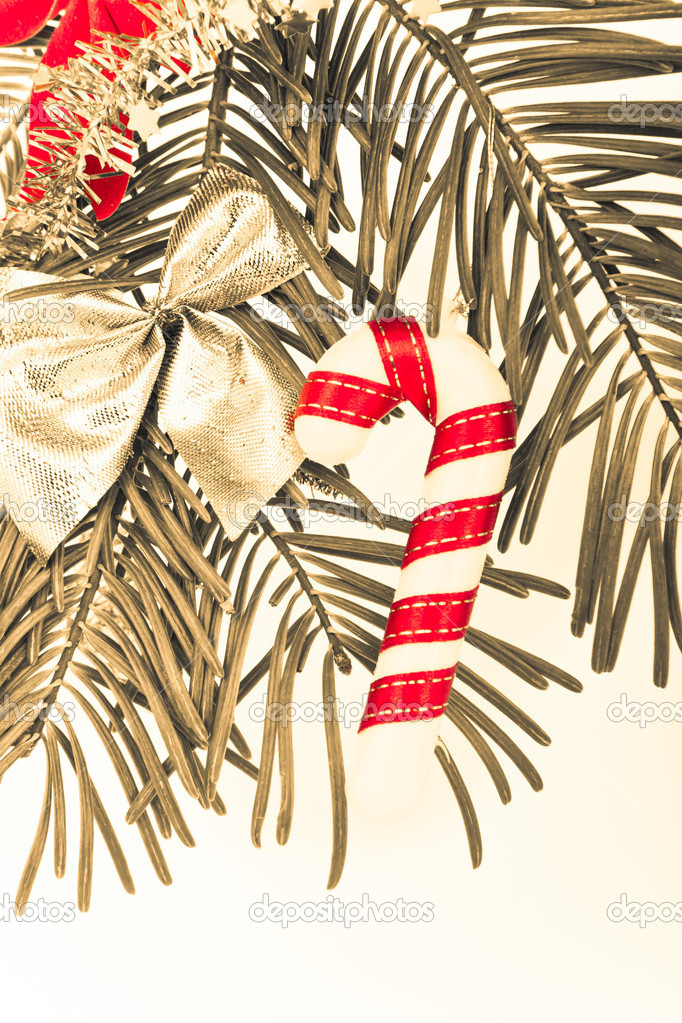 Christmas decoration on Christmas tree — Stock Photo #5299609