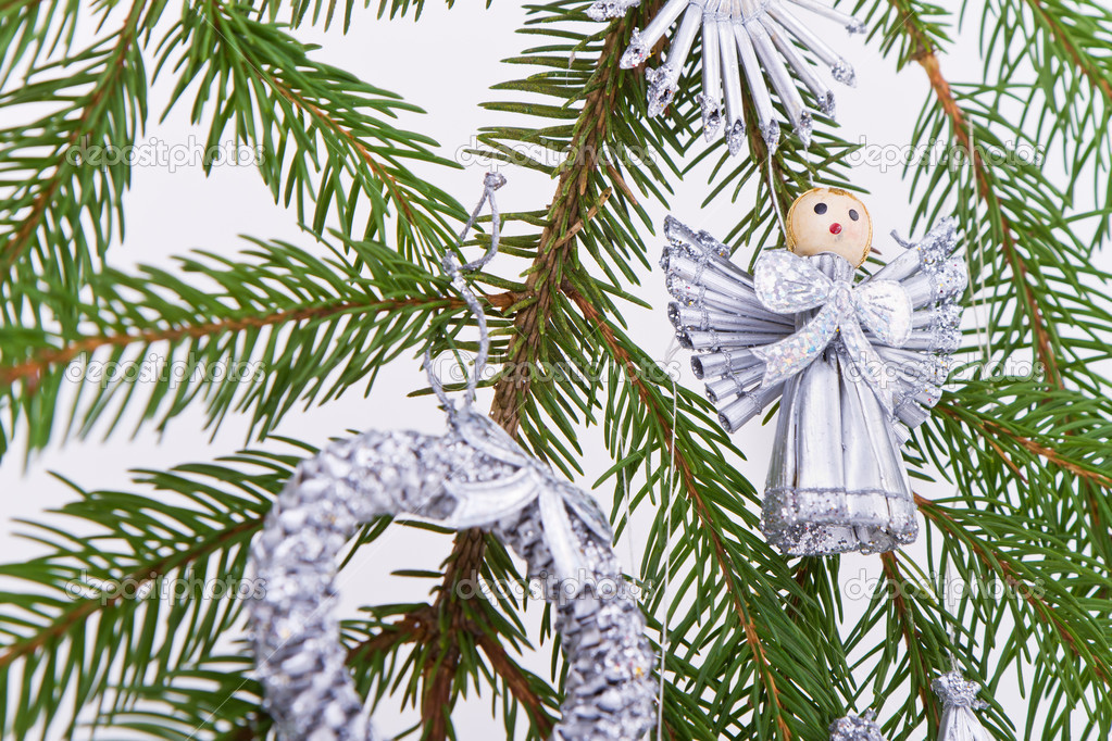 Decoration on Christmas tree isolated — Stock Photo #5299715