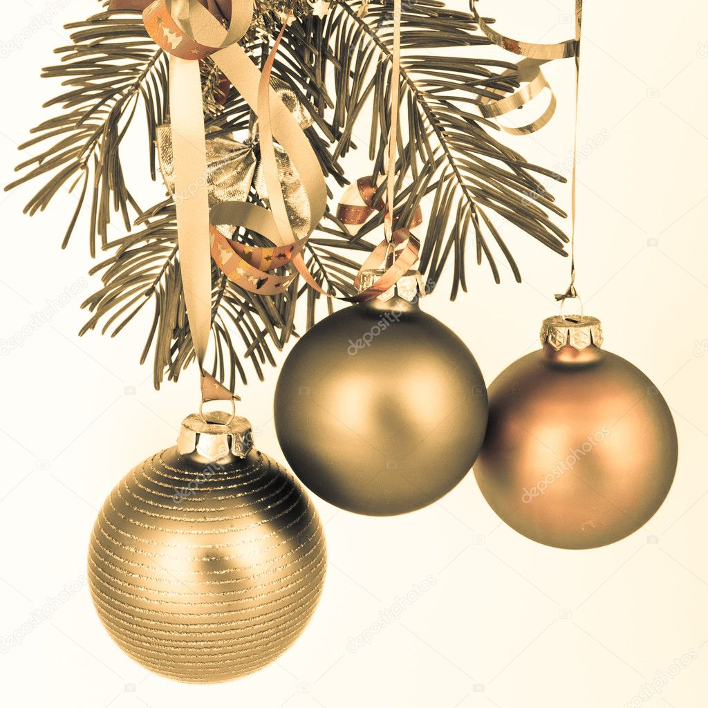 Christmas decoration on Christmas tree — Stock Photo #5299743
