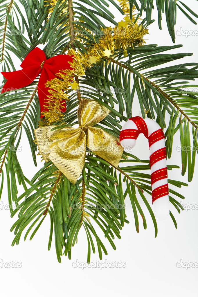 Christmas decoration on Christmas tree — Stock Photo #5299798