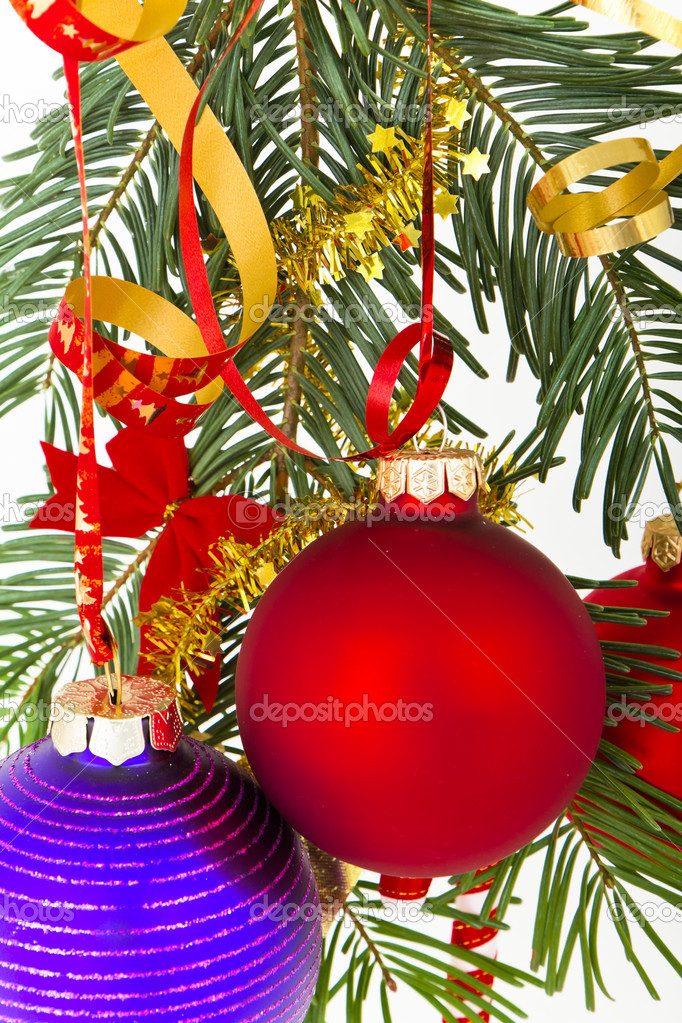 Christmas decoration on Christmas tree — Stock Photo #5299828