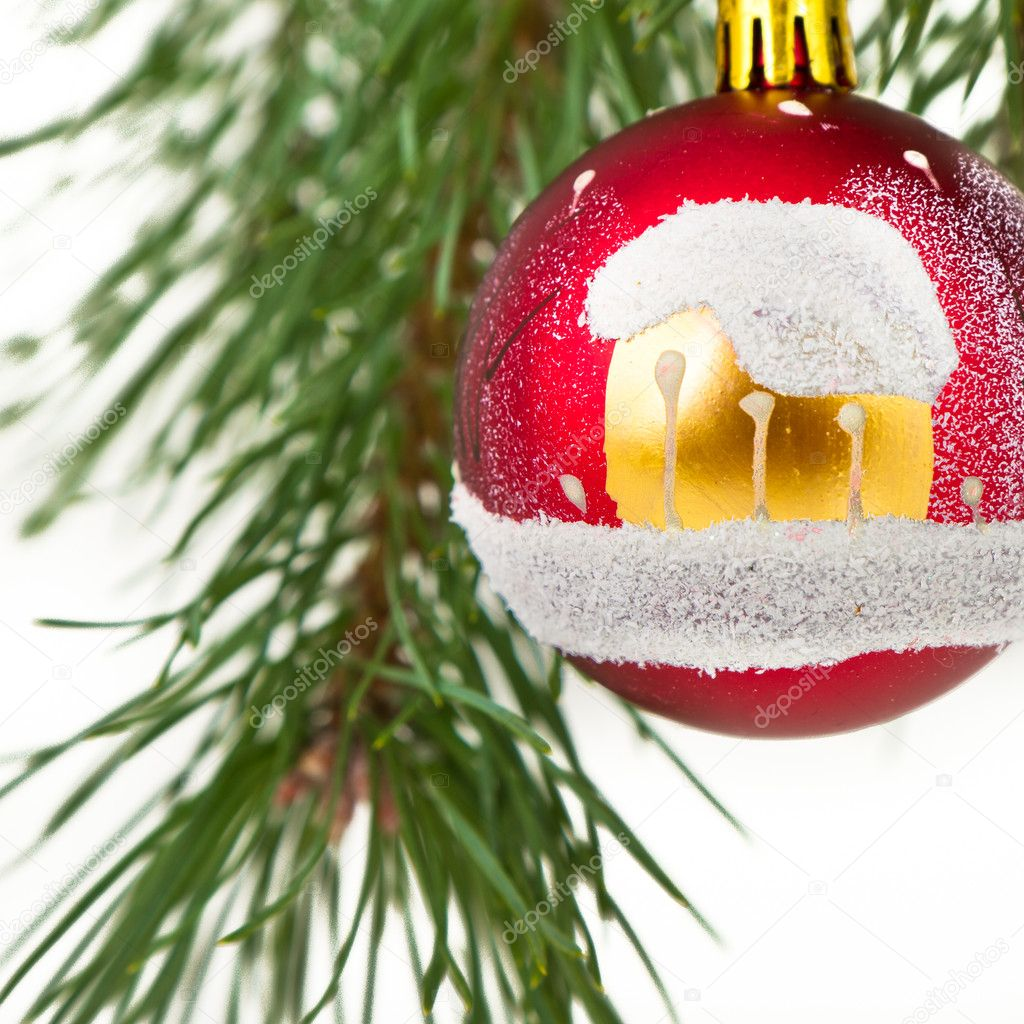 Christmas decoration on Christmas tree — Stock Photo #5299872