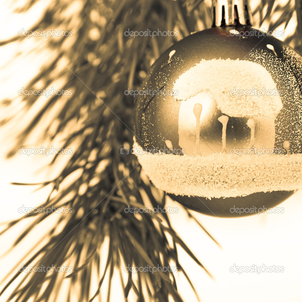 Christmas decoration on Christmas tree — Stock Photo #5299880
