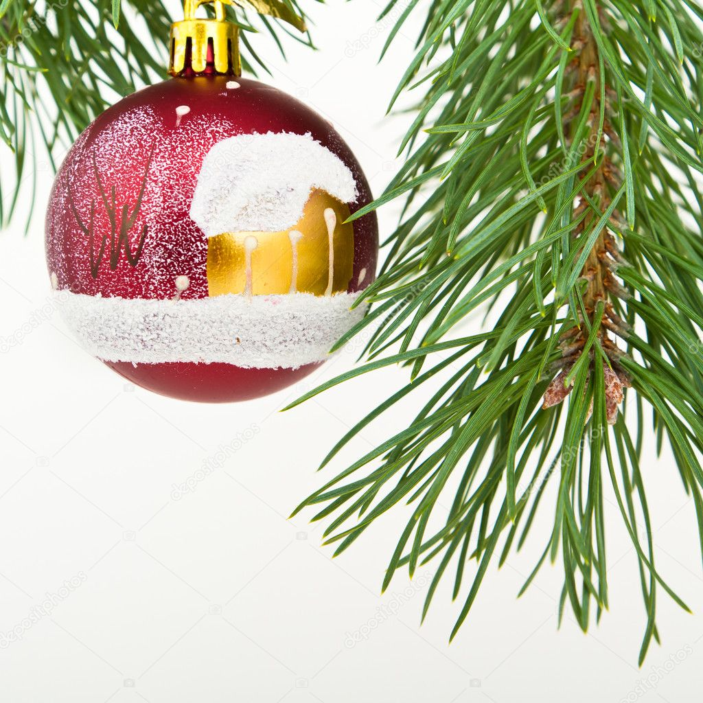 Christmas decoration on Christmas tree — Stock Photo #5299956