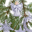 Decorated Christmas tree - Stock Photo