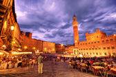 Sienna main square — Stock Photo