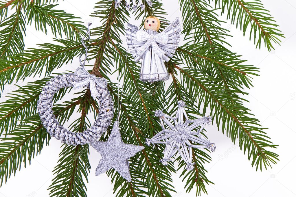 Decoration on Christmas tree isolated — Stock Photo #5300045