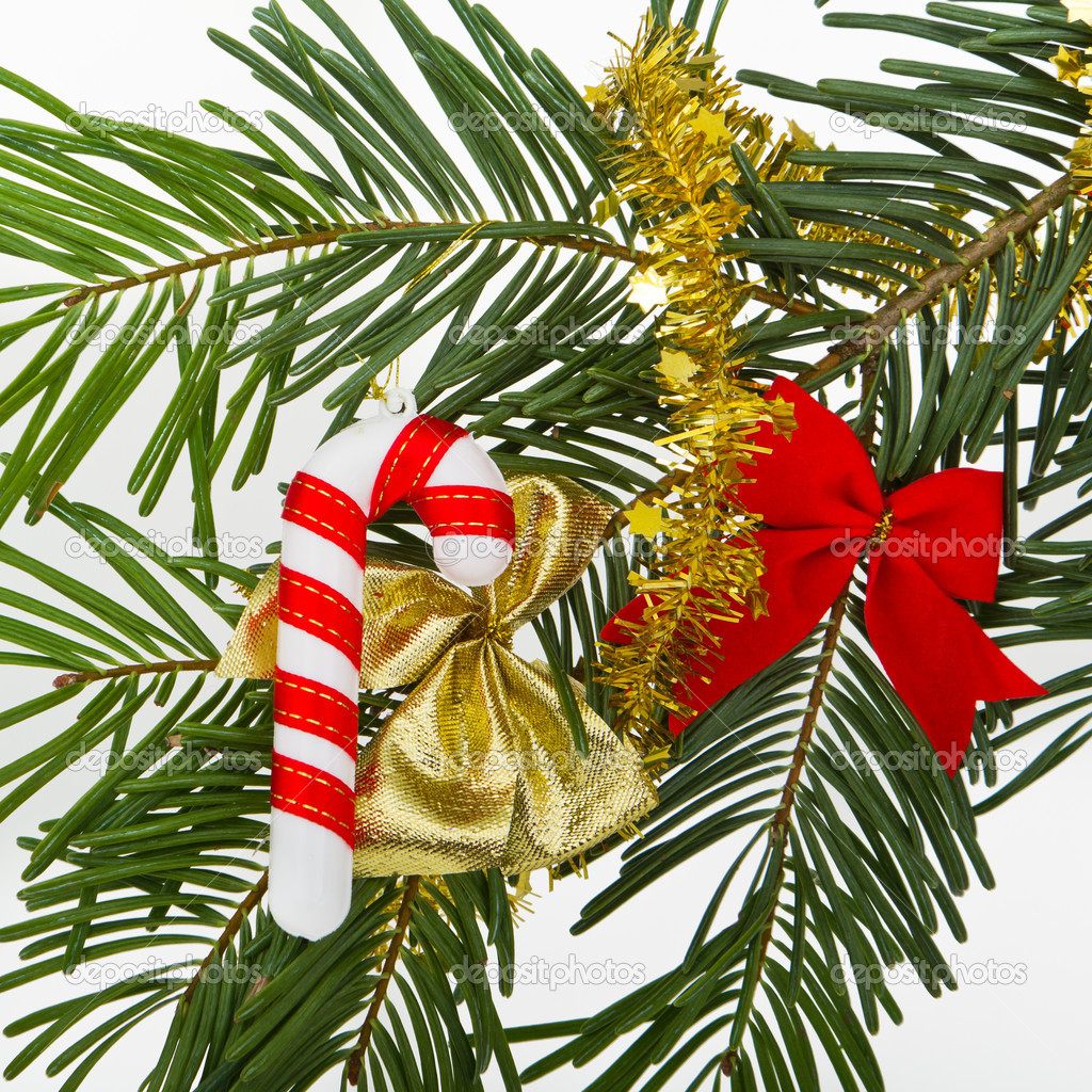 Christmas decoration on Christmas tree  Stock Photo #5300169