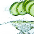 Cucumber in water - Stock Photo