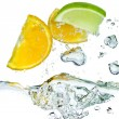 Citrus fruit splashing — Stock Photo