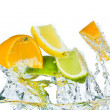 Citrus fruit splashing — Stock Photo #5349710