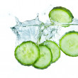 Cucumber in water — Stock Photo #5349761