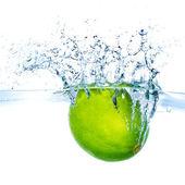 Lime splashing — Stock Photo