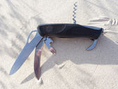 Schwarz taschenmesser — Stockfoto