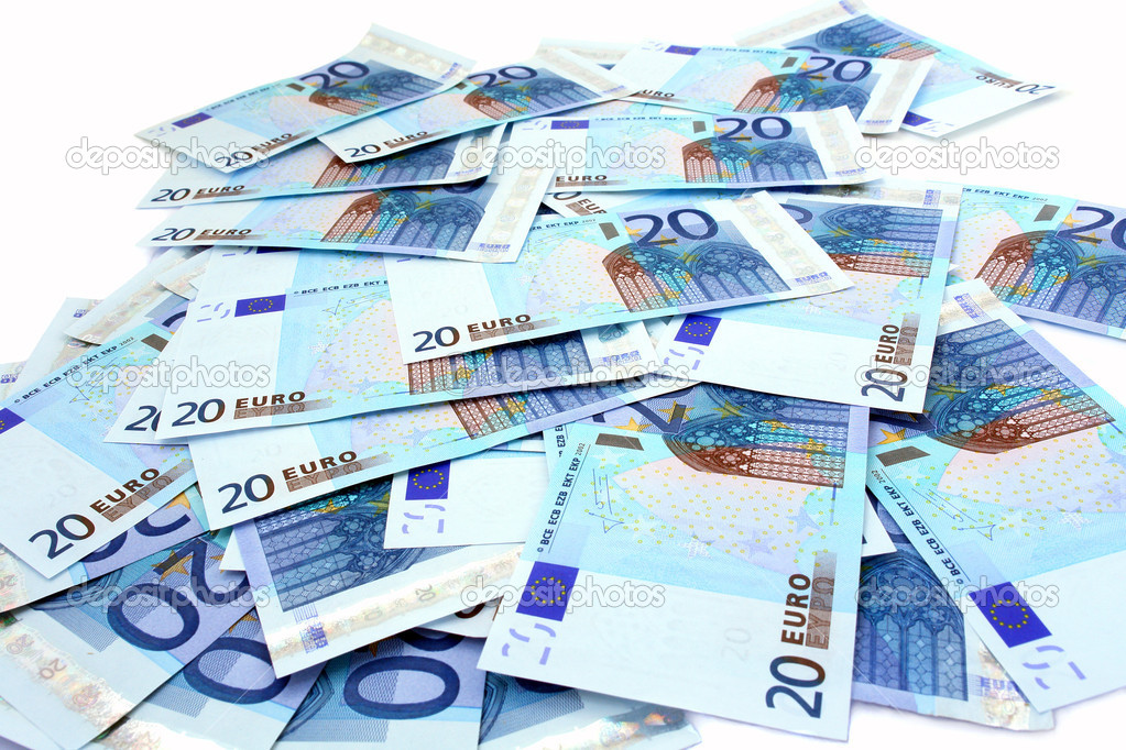Banknotes in the 20 euro isolated on white background                                 — Stock Photo #5281056