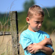 Foto Stock: Little boy upset